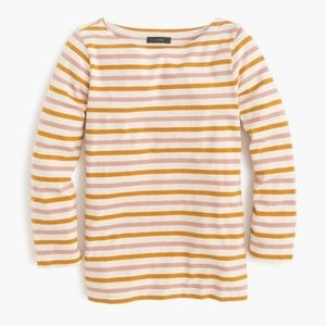 J. Crew Boatneck Top with Multicolored Stripes S